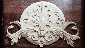 Pracownia Rzeźbiarska Besaleel - Aplikacja na drzwi